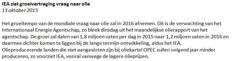 Figuur 1: Handelen in olie – Nieuwsbericht. Klik om te vergroten.