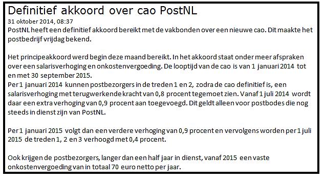 ervaring beleggen in PostNL 1