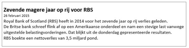 Winst met daghandelen RBS